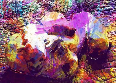 Digital Art - Puppies Puppy Cotton Tulear Scope  by PixBreak Art