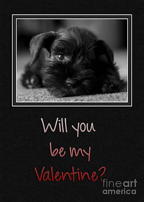 Digital Art - Puppy Be My Valentine by JH Designs