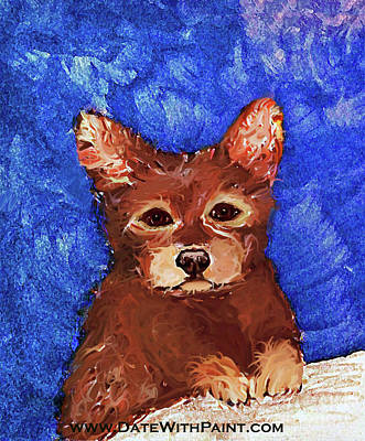 Painting - Puppy Bear_dwp May 2017 by Ania M Milo