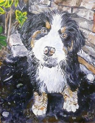 Painting - Puppy by Bryan Bustard