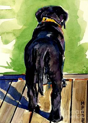 Painting - Puppy Butt by Molly Poole