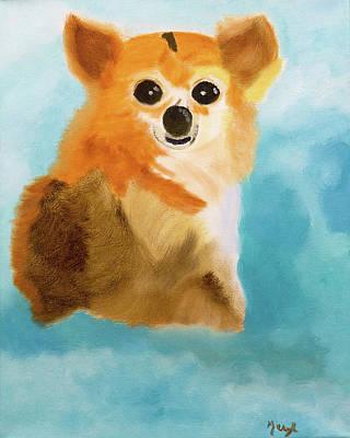 Painting - Puppy Dog Eyes by Meryl Goudey