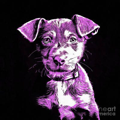 Dog Pop Art Photograph - Puppy Dog Graphic Novel Drawing IIi by Edward Fielding