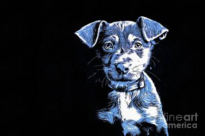Cute Puppy Drawing - Puppy Dog Graphic Novel  by Edward Fielding