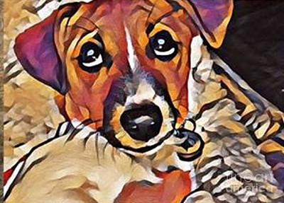 Digital Art - Puppy Eyes by Holly Martinson