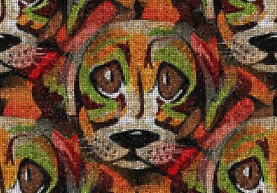 Puppies Mixed Media - Puppy Eyes by Kathleen Sartoris