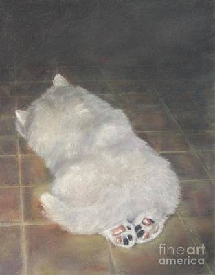 Puppy Feet Art Print by Elizabeth Ellis