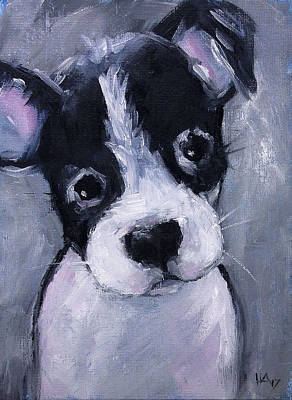 Bull Terrier Mixed Media - Puppy by Heather Adams