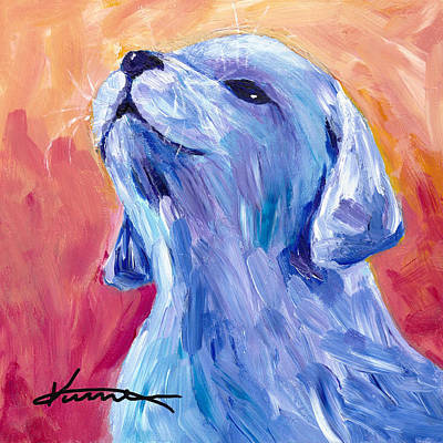 Painting - Puppy Howl by Kume Bryant