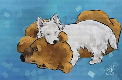 Digital Art - Puppy Love by Debra Baldwin