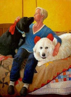 Puppy Love Art Print by Donelli  DiMaria