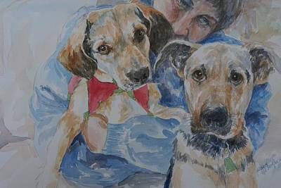 Painting - Puppy Love by Gloria Turner