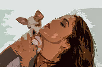 Painting - Puppy Love by Josy Cue