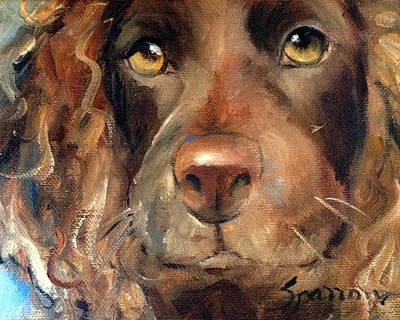 Boykin Spaniel Painting - Puppy Love by Mary Sparrow