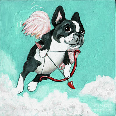 Boston Painting - Puppy Love by Robin Wiesneth