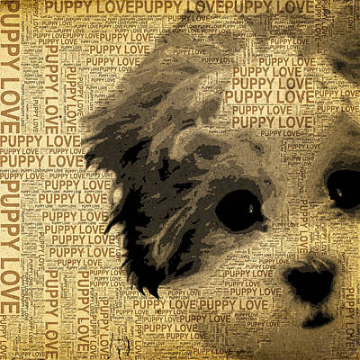 Puppies Mixed Media - Puppy Love by Stacey Chiew