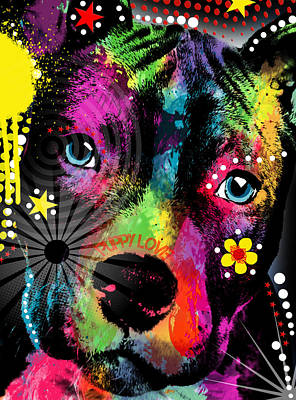 Dog Abstract Art Digital Art - Puppy  by Mark Ashkenazi