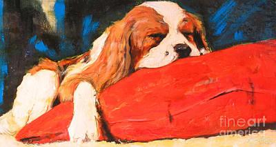 Painting - Puppy Nap by Debora Cardaci
