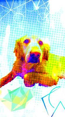 Mixed Media - Puppy Portrait by Michelle Dallocchio