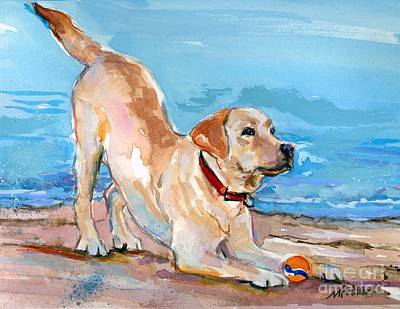 Painting - Puppy Pose by Molly Poole