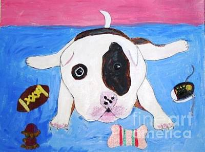 Painting - Puppy by Victoria Hasenauer