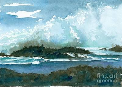 Painting - Pupukea Hawaii Splash by Cathie Richardson