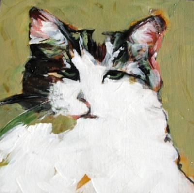 Pur-fect Pose Art Print by Michelle Winnie