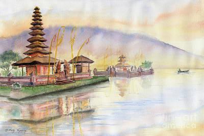 Painting - Pura Ulan Danu Bali by Melly Terpening