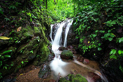 Art Print featuring the photograph Pura Vida Waterfall Horizontal by David Morefield