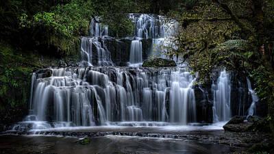 Photograph - Purakaunui Falls by Brad Grove