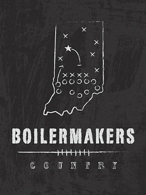 Purdue Boilermakers Country Art Print by Damon Gray
