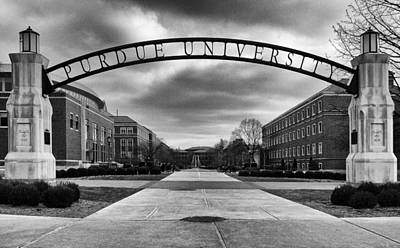 Purdue Entrance Sign Art Print