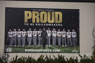 Photograph - Purdue Football 2015 by David Bearden