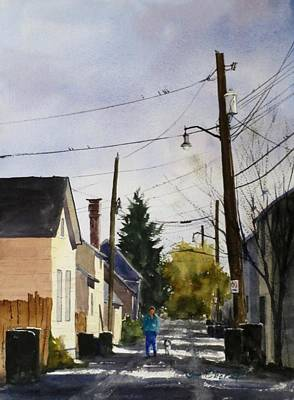 Oberst Painting - Purdy Alley by Jim Oberst
