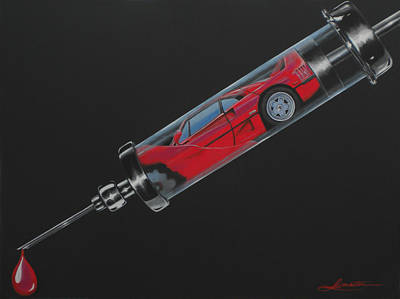 F40 Painting - Pure Adrenaline by Lynn Masters
