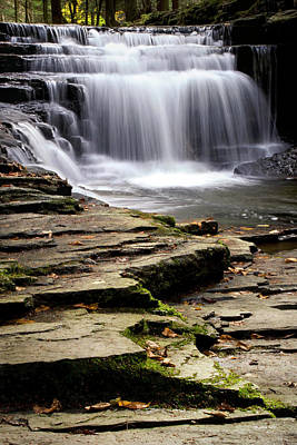 Photograph - Pure And Tranquil Waterfall by Christina Rollo