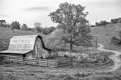 Photograph - Pure Arkansas In Black And White by Gregory Ballos