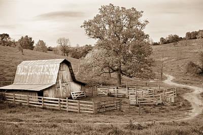 Photograph - Pure Arkansas In Sepia by Gregory Ballos