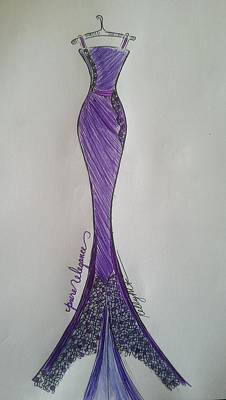 Drawing - Pure Elegance by Kelly Turner