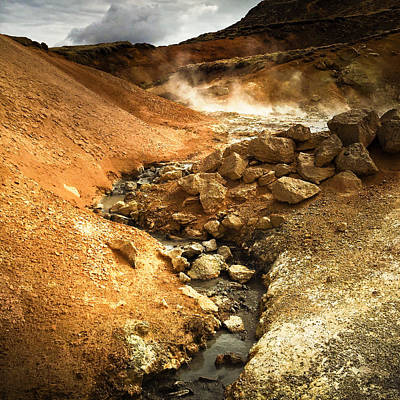 Landscapes Wall Art - Photograph - Pure Iceland - Geothermal Area Krysuvik by Matthias Hauser