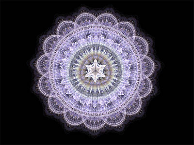 Digital Art - Pure Lavender Lace by Barbara A Lane