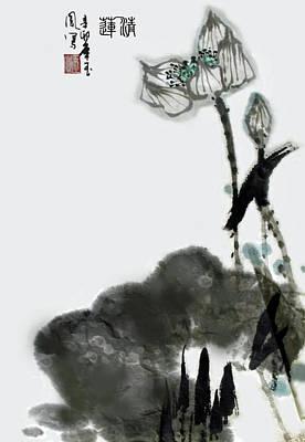 Painting - Pure Lotus by Yufeng Wang