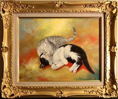 Cats Painting - Pure Love by Hiroyuki Suzuki