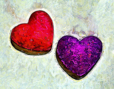 Abstract Hearts Photograph - Pure Love by Krissy Katsimbras