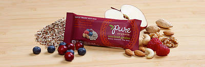 Snack Bar Digital Art - Pure Organic Triple Berry Nut by Veronica Bosgraaf