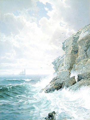 Purgatory Painting - Purgatory Cliff by William Trost Richards