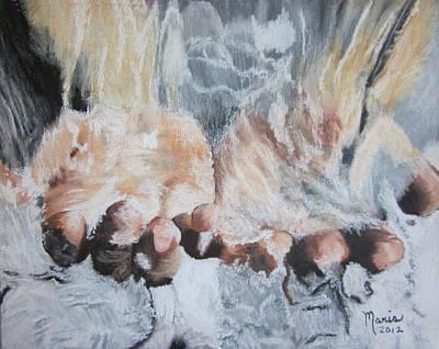 Purified Hands Art Print