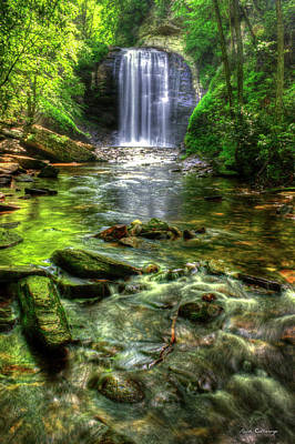 Photograph - Purifying Waters Looking Glass Falls Great Smoky Mountains North Carolina Art by Reid Callaway