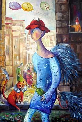 Purim Carnival In Jerusalem Original by Elisheva Nesis
