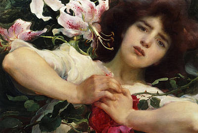 Purity And Passion Art Print by Franz Dvorak
